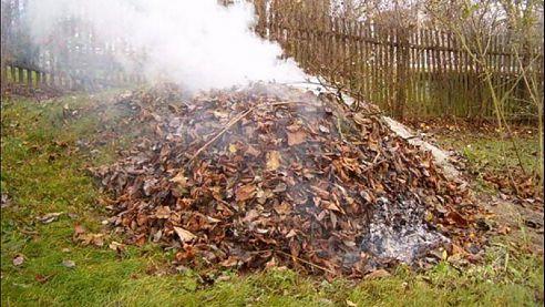Pálení klestí a spalování travního a dřevního odpadu