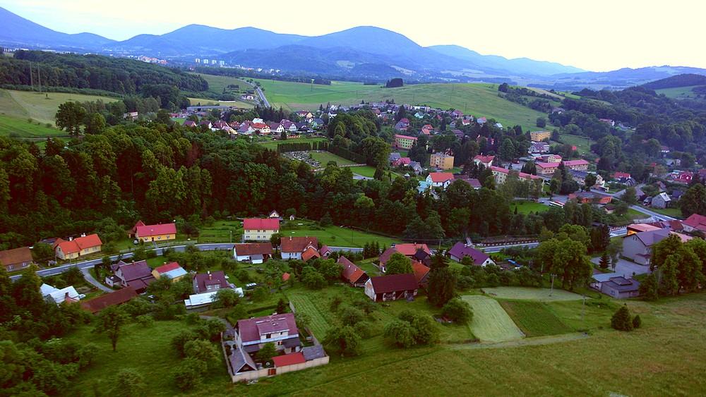 Obec Tichá - Tichá - letecký pohled