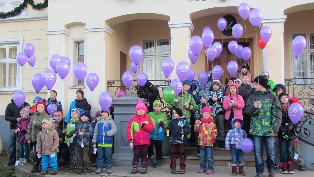 AK - Rekordní balónek s přáníčkem