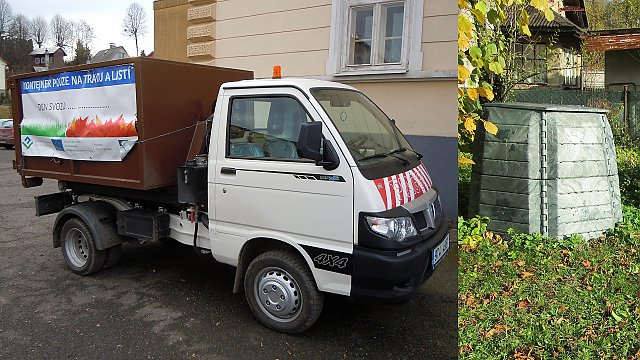 Pořízení 250 ks kompostérů a svozového vozidla Piaggio