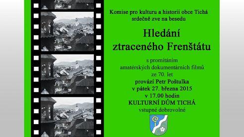 Kulturní dům v Tiché nabídne páteční promítání dokumentárních filmů