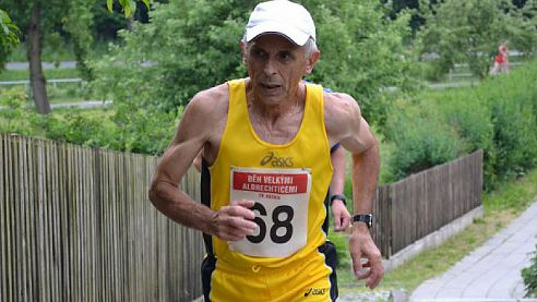 Tichavský maratonec Karel Piskoř