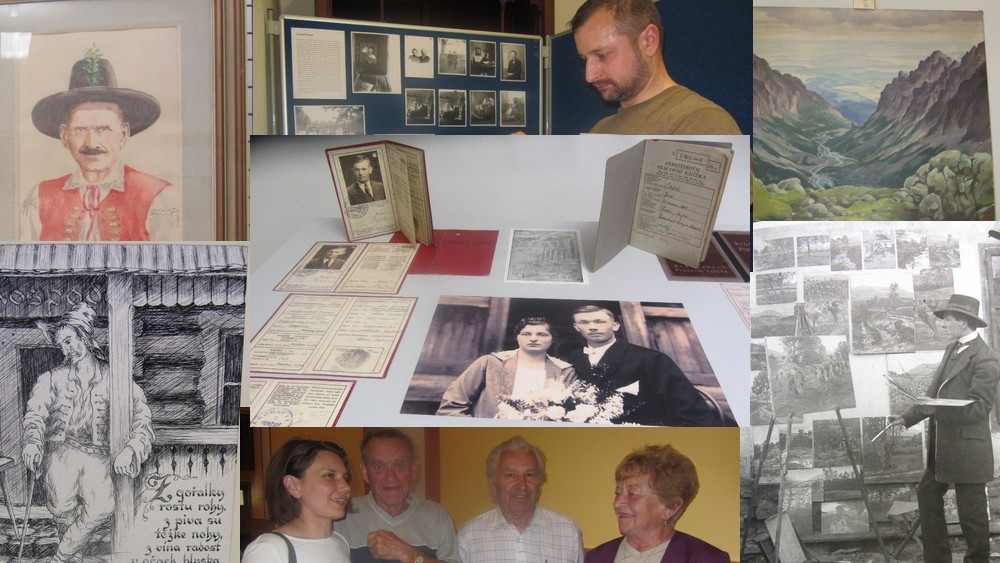 AK - Vernisáž Leopold Parma a Josef Štefek