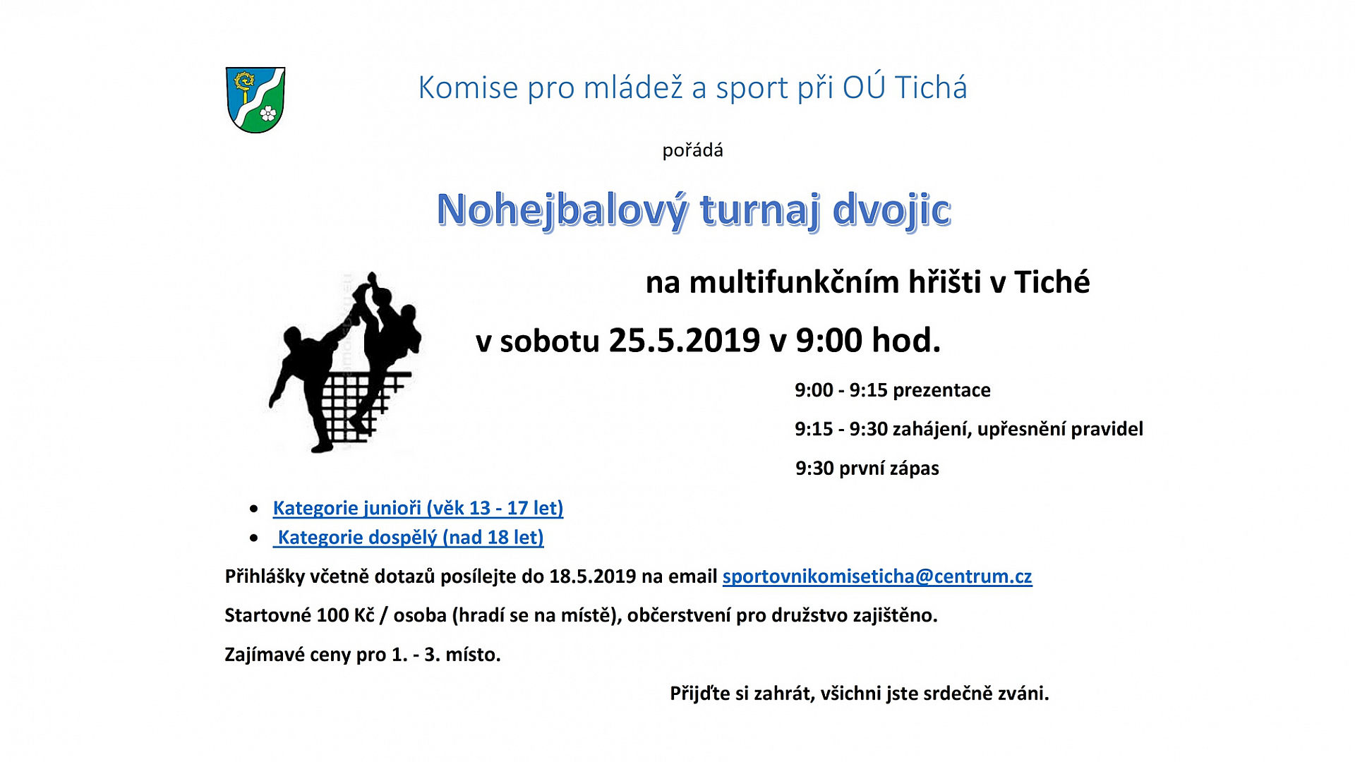 Obec Tichá - Nohejbalový turnaj
