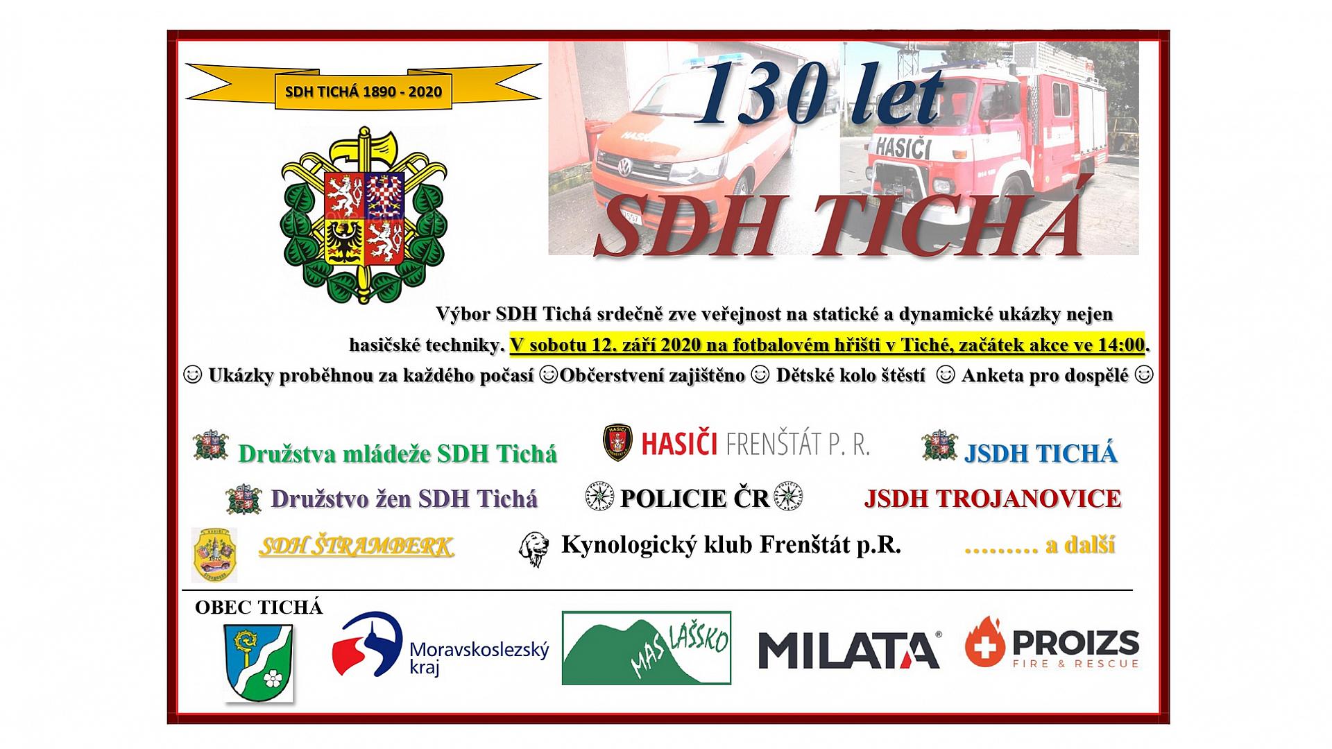 SDH TICHÁ - Obce 2020