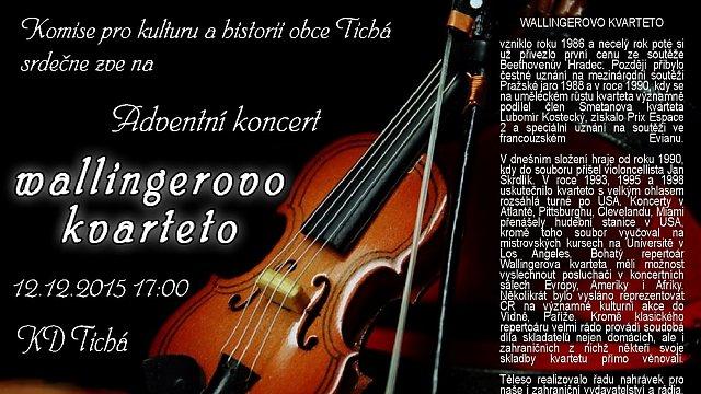 Adventní koncert WALLINGEROVO KVARTETO