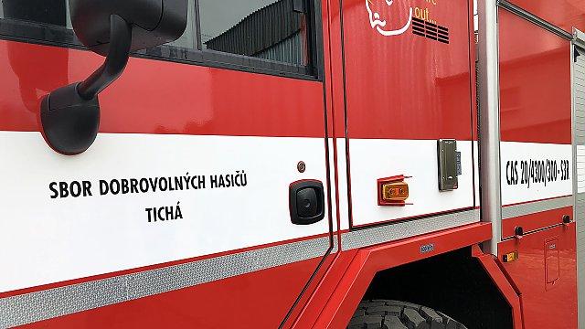 SDH Tichá ma nový hasičský automobil