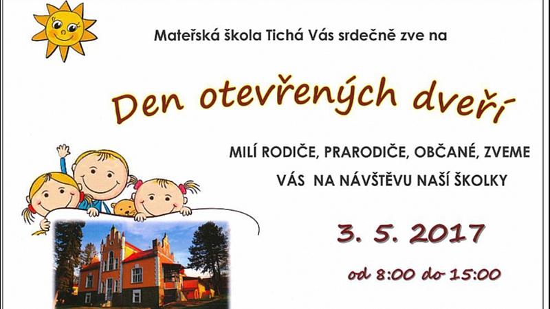 MŠ - Den otevřených dveří MŠ Tichá