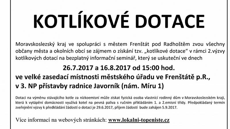 ORP FREŠNTÁT - KOTLÍKOVÉ DOTACE