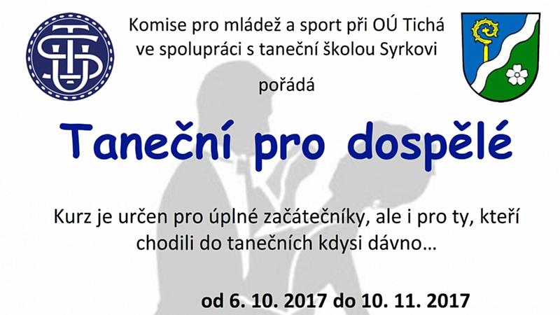 Komise pro sport a mládež - Taneční pro dospělé